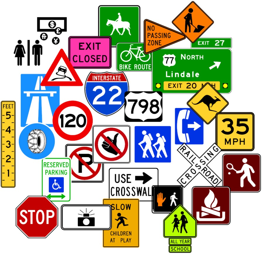 Road, Highway & Warning Signs