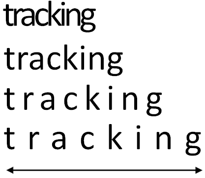 how to change the tracking of text in word
